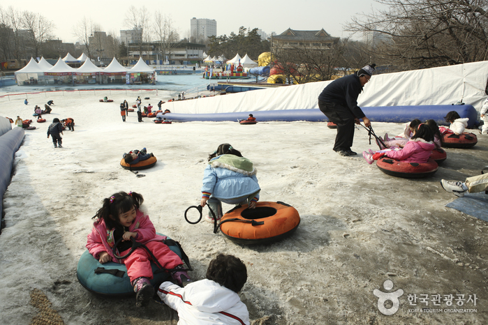 Korean Children's Center Snow Sledding Field